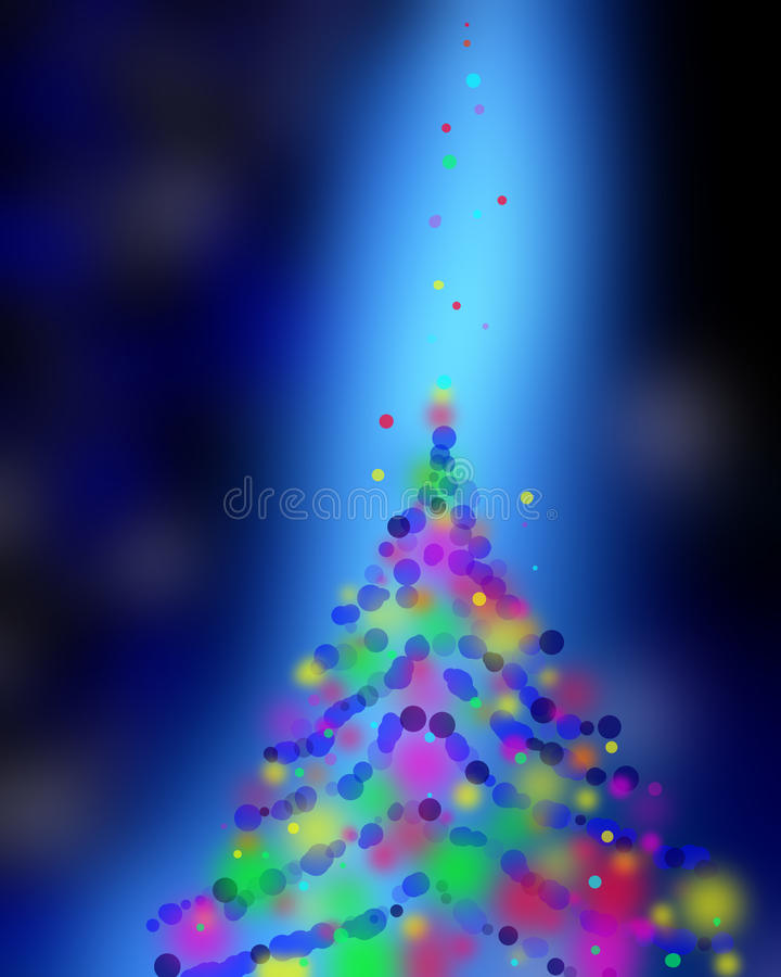 Boke variopinto del fondo astratto elegante festivo blu di Natale illustrazione vettoriale