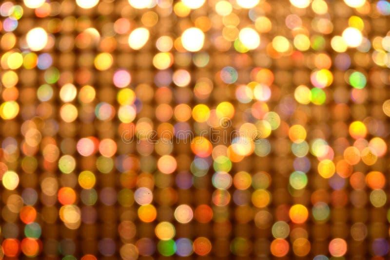 Bokeh五颜六色的光摘要迷离背景 库存图片
