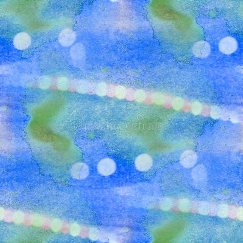 Bokeh五颜六色的样式绿色,大海纹理 库存例证