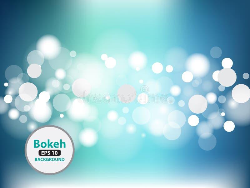 Bokeh传染媒介摘要光背景 库存例证