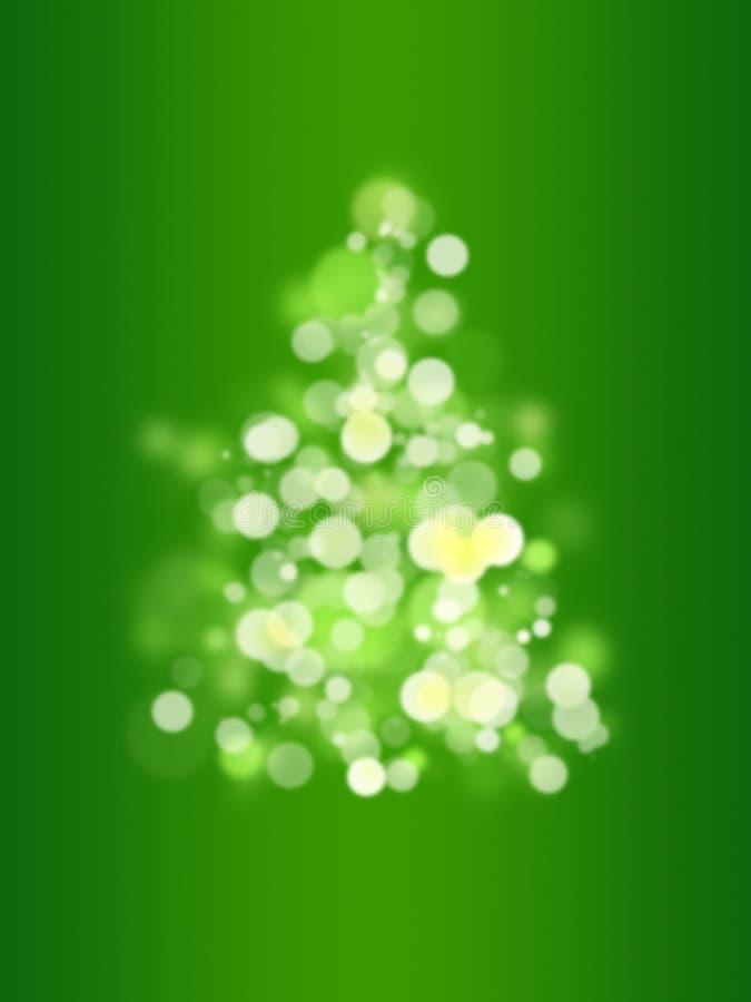 bokeh圣诞树 免版税图库摄影