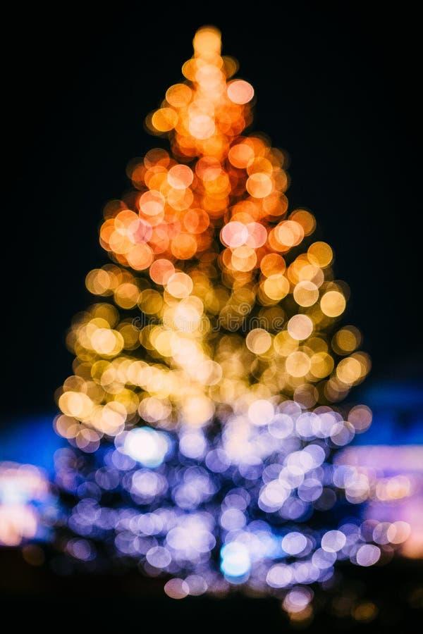Bokeh圣诞树 库存图片