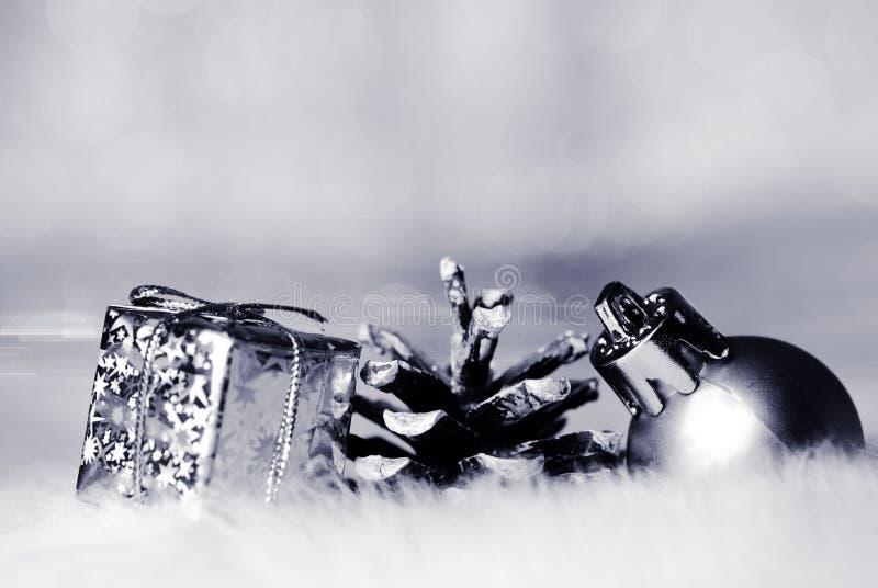 bokeh圣诞节金子 图库摄影