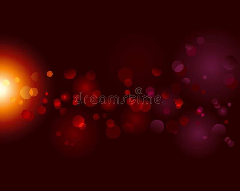 bokeh小点作用光魔术闪闪发光向量 向量例证