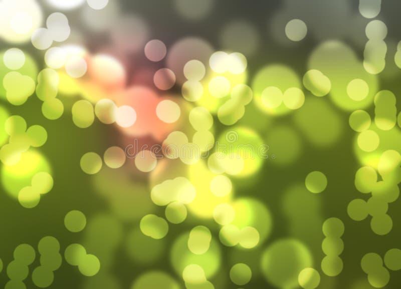Bokeh弄脏了光线影响 库存照片