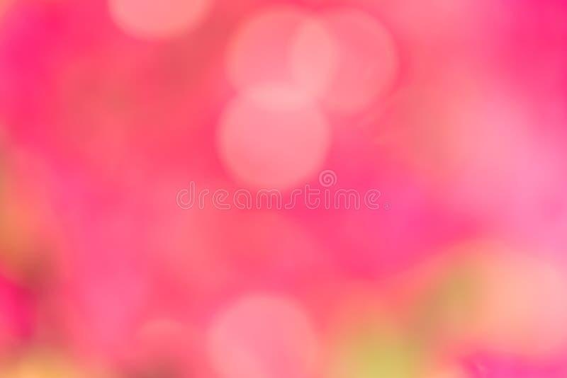 Bokeh桃红色颜色背景 免版税图库摄影