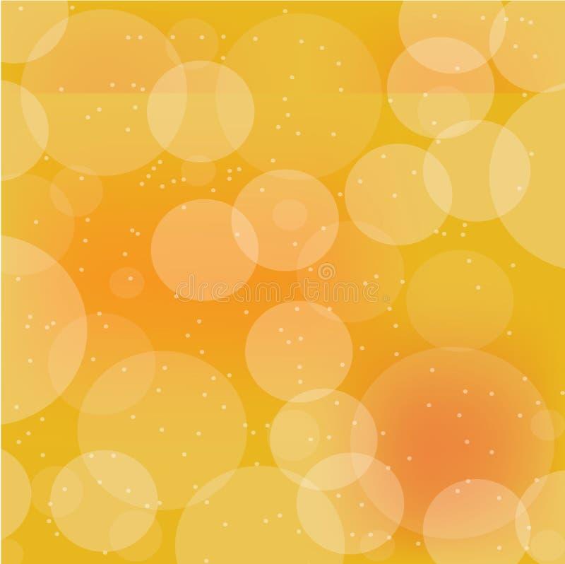 Bokeh橙色颜色抽象背景,传染媒介例证 EPS10 皇族释放例证