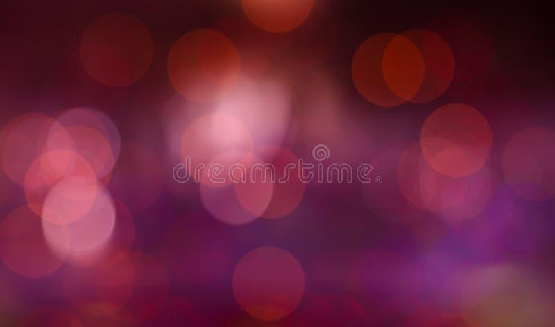 Bokeh紫色红色横幅背景 图库摄影