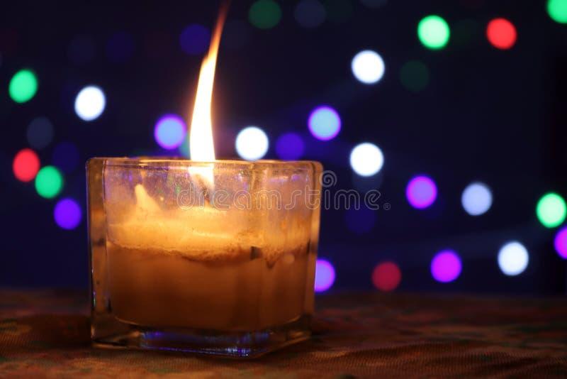 Bokeh蜡烛 免版税图库摄影