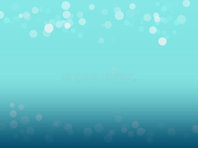 Bokeh är på blå bakgrund royaltyfria foton