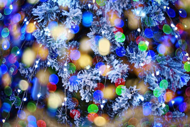 Bokeh świąteczna girlanda zdjęcia stock