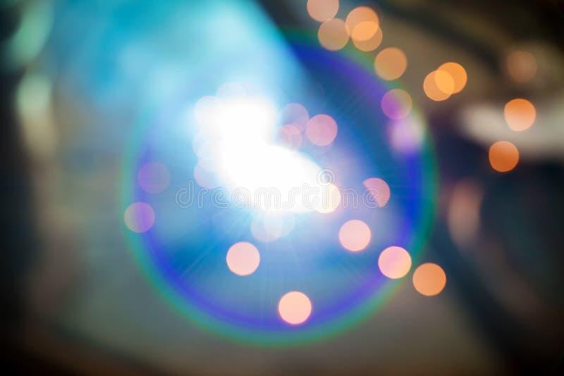 Bokeh światło od iskier, spojrzenie jak petardy spaw stalą zdjęcia stock