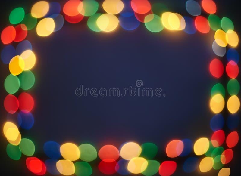 Bokeh świateł rama fotografia stock