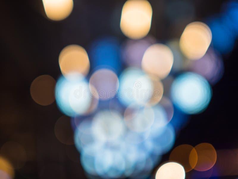 Bokeh абстрактной красивой предпосылки красочное светов украшения рождества стоковое изображение