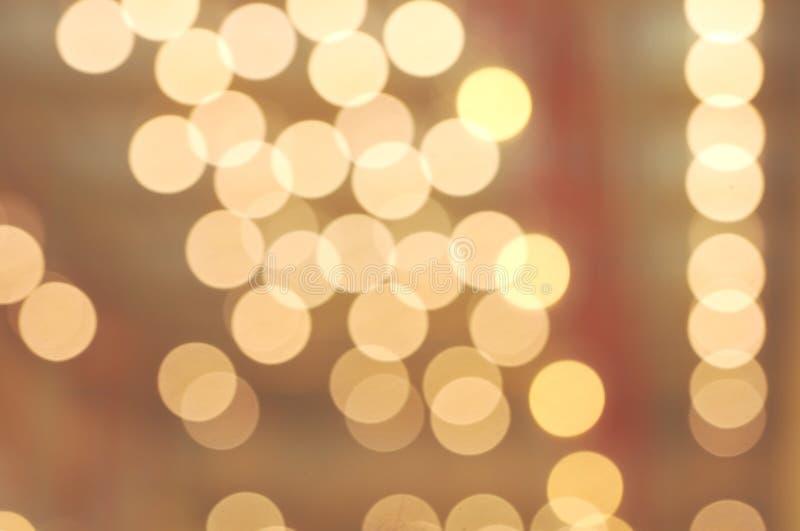 Bokeh отображает цвет желтого цвета формы пузырей круга стоковая фотография rf
