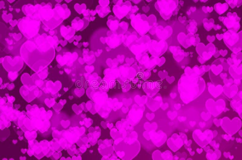 Bokeh сердца стоковое изображение