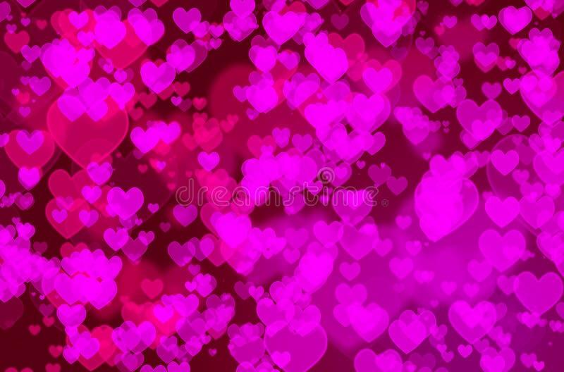 Bokeh сердца стоковые изображения rf