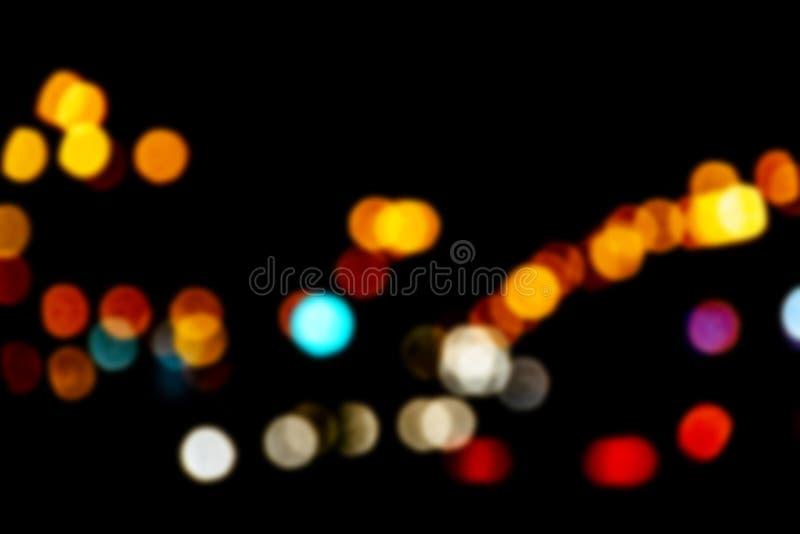 Bokeh с multi цветами Праздничная предпосылка bokeh светов defocused света bokeh Запачканное Bokeh Предпосылка года сбора виногра стоковое изображение
