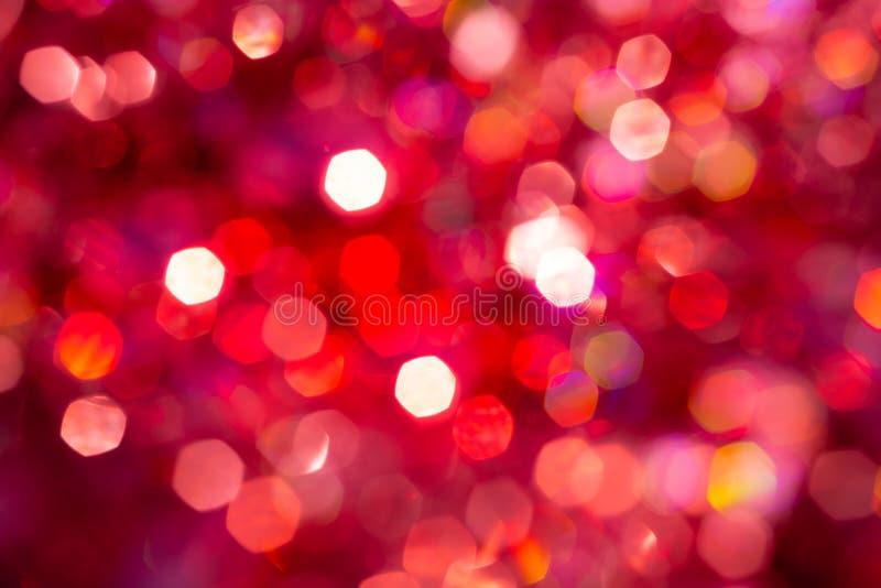 Bokeh текстуры нерезкости предпосылки, фиолетовый, желтый, розовое, 6 сторон, круг Defocused абстрактная красная предпосылка рожд бесплатная иллюстрация