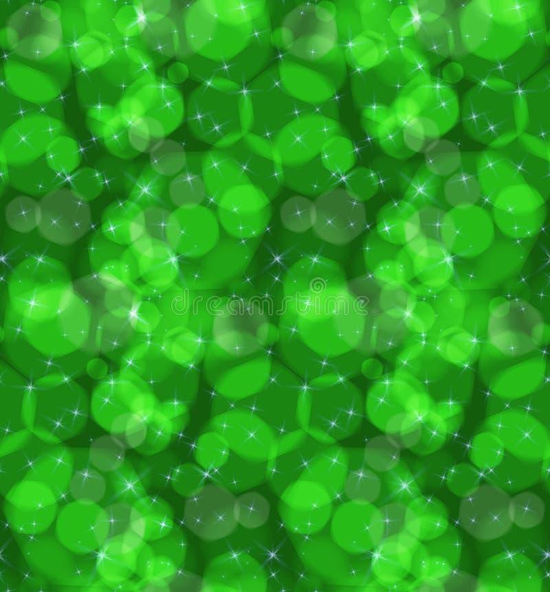 Bokeh绿色星 库存例证