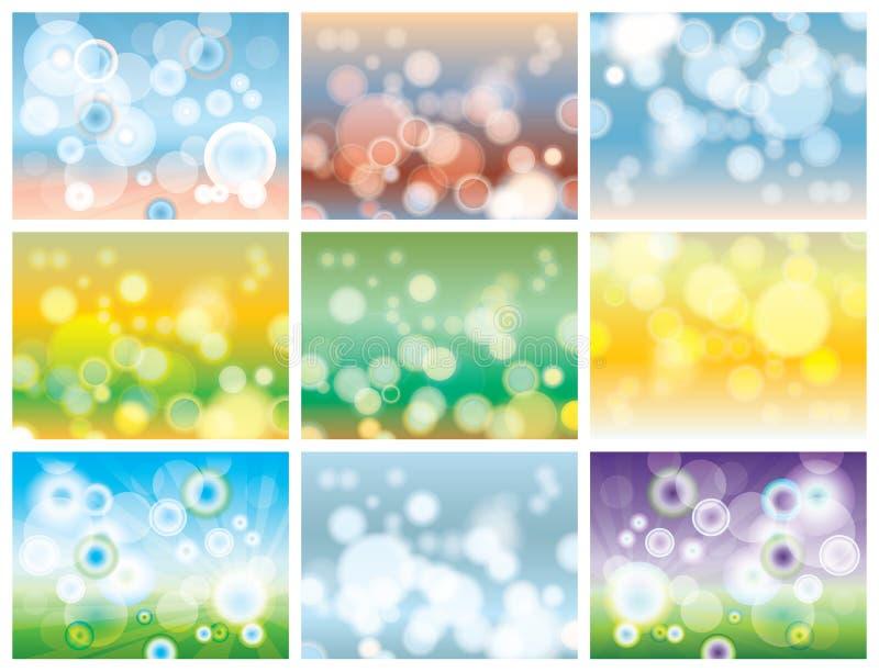 抽象五颜六色的bokeh 库存例证