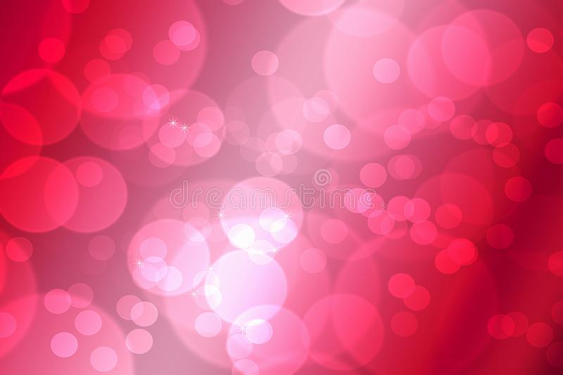 Bokeh in abstract red gradient background of valentine`s stock photography