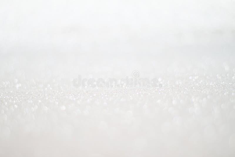 Bokeh abstracto de plata brillante del fondo, Defocused fotos de archivo