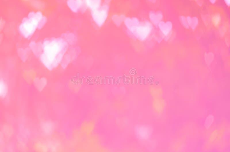 Bokeh abstracto del corazón del rosa del fondo fotos de archivo libres de regalías
