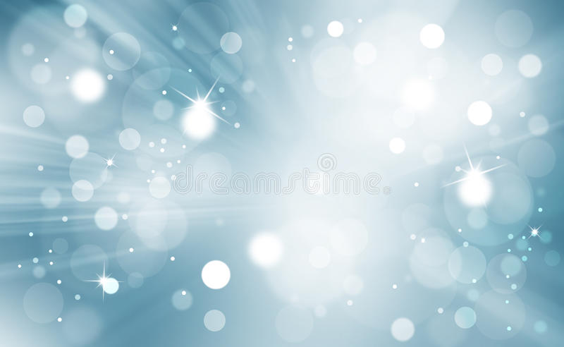 Bokeh abstrait avec le fond de rayons légers illustration de vecteur