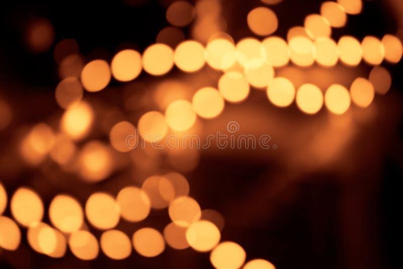 Bokeh abstrait de lumières d'or image libre de droits