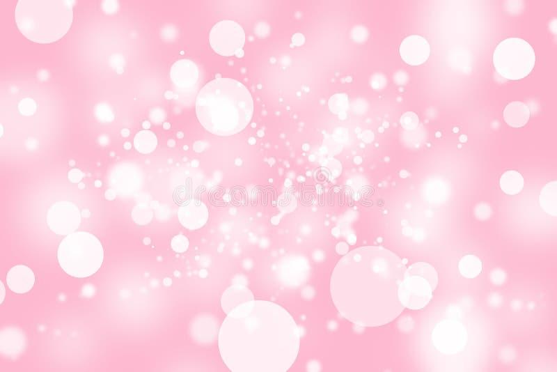 Bokeh abstrait rose de tache floue photos stock