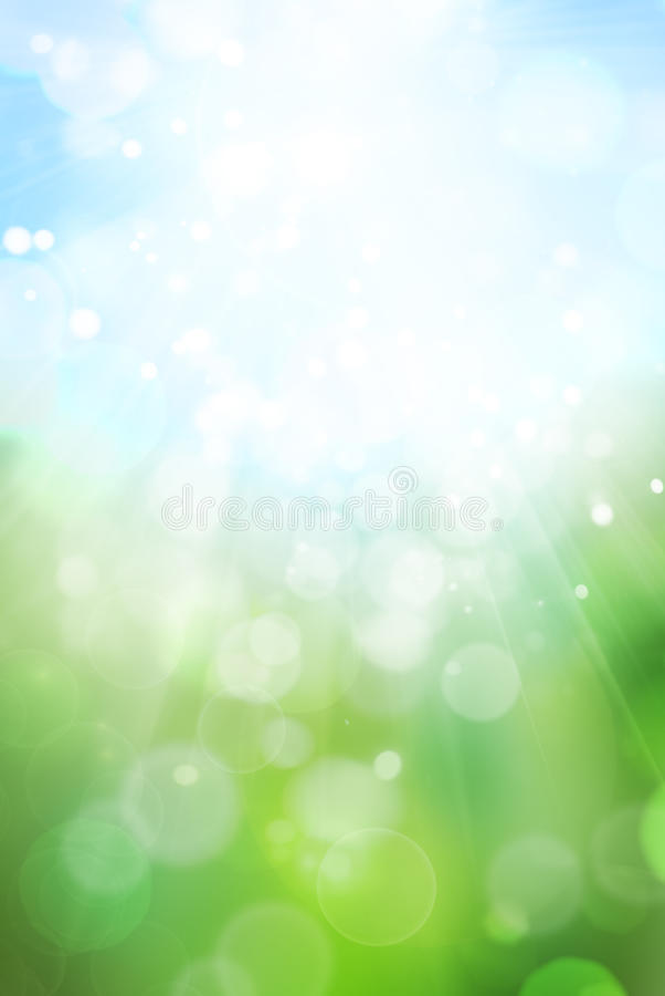 bokeh abstrakcjonistyczna zieleń royalty ilustracja