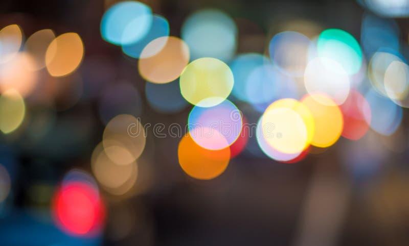 Bokeh abstrakcjonistyczni światła Perfect świąteczny tło fotografia royalty free