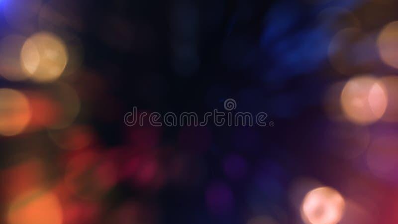 Bokeh abstrakt begrepptextur färgrikt defocused bakgrund Suddigt ljust ljus arkivfoto