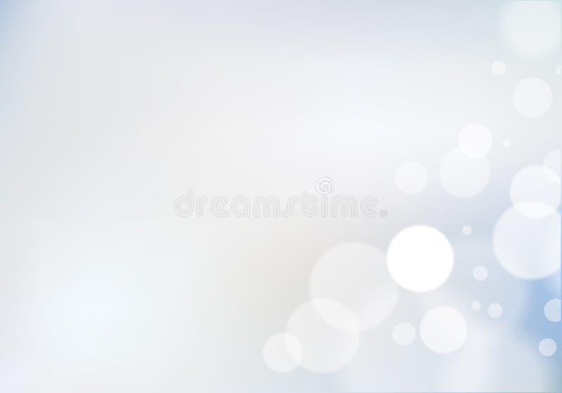 Bokeh abstrakt oskarp ljusbakgrund Färgrik vektorillustr royaltyfri illustrationer