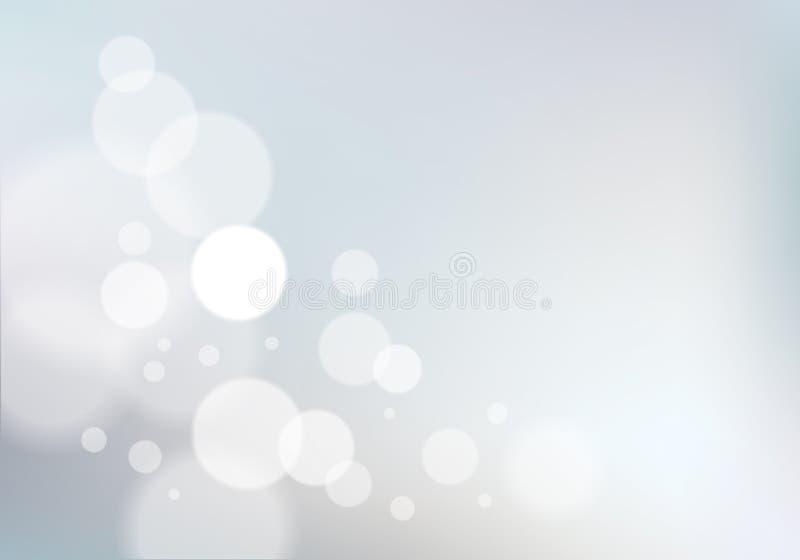 Bokeh abstrakt oskarp ljusbakgrund Färgrik vektorillustr vektor illustrationer