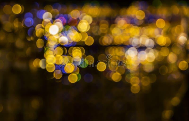 Bokeh abstrakta światła kolorowy tło dla kreatywnie projekta układu szablonu z świętowania pojęciem zdjęcia royalty free