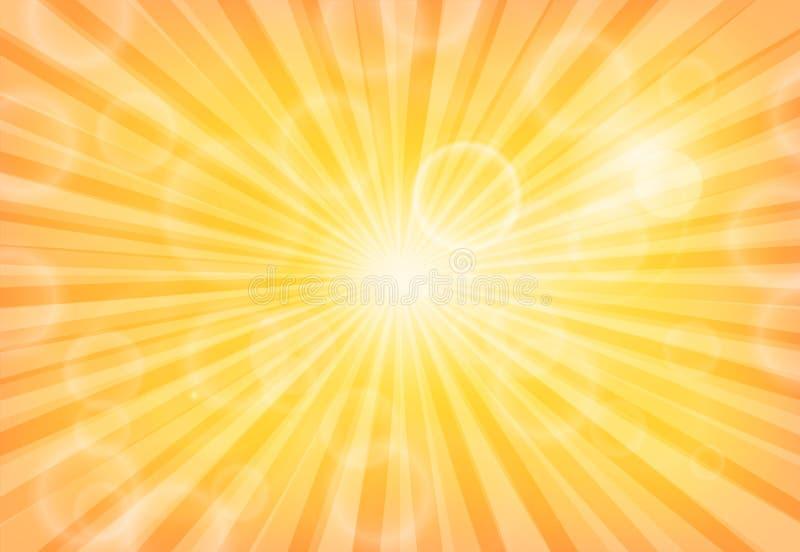Bokeh abstrakta światła na Sunburst wzorze royalty ilustracja