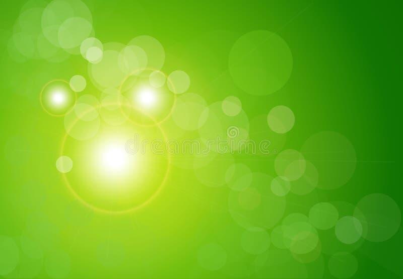 Bokeh abstrato do verde do fundo do vetor foto de stock royalty free