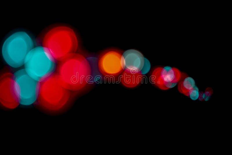 Bokeh allument le fond abstrait de vintage, bokeh de lumière de la vie de nuit, photographie stock