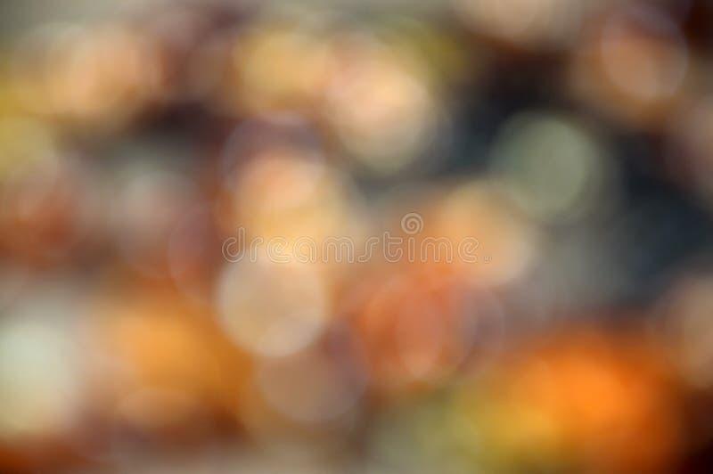 Bokeh anaranjado suave abstracto imágenes de archivo libres de regalías