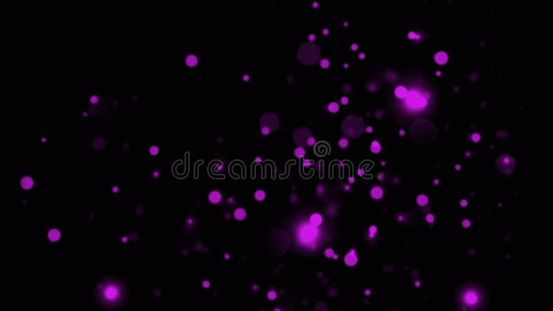 Glitter bokeh lights background. Purple and black defocused. Merry Christmas and Happy New year background texture overlays royalty free stock image