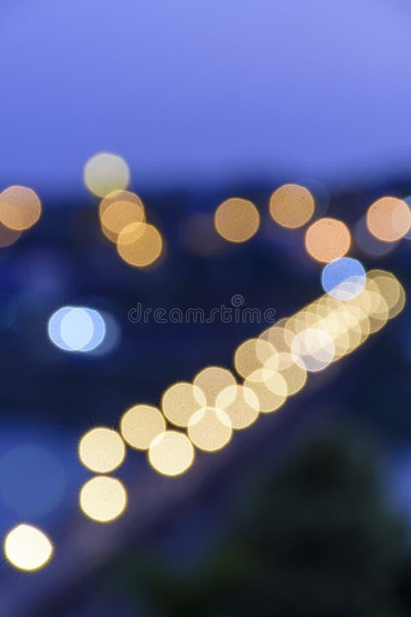 Bokeh astratto del ponte di lunedì, Sangkhlaburi, Kanchanaburi fotografia stock