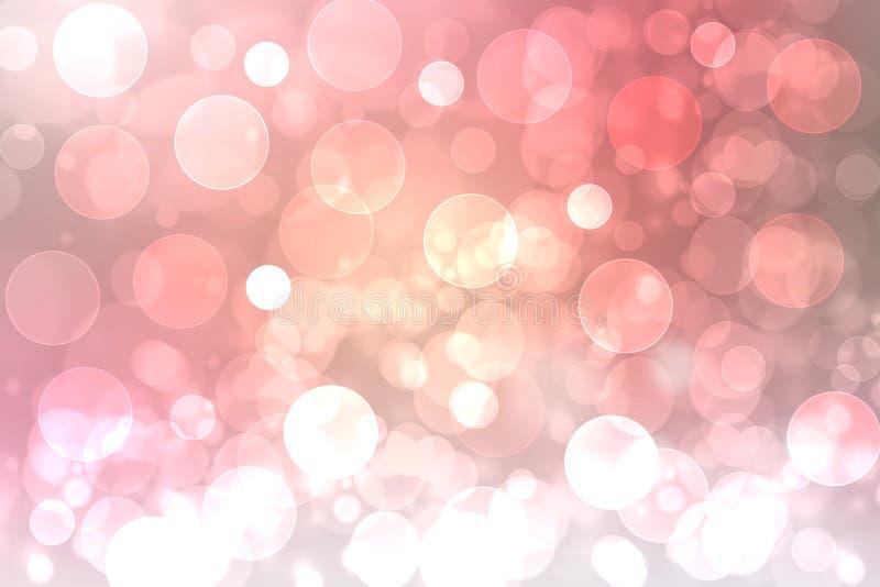 Bokeh astratto luminoso rosa festivo, pendenza variopinta defocused e pastello colorato Bella struttura royalty illustrazione gratis