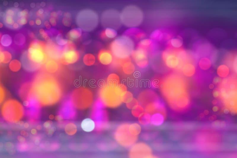 Bokeh av ljus magisk festlig ljusbakgrund royaltyfria foton