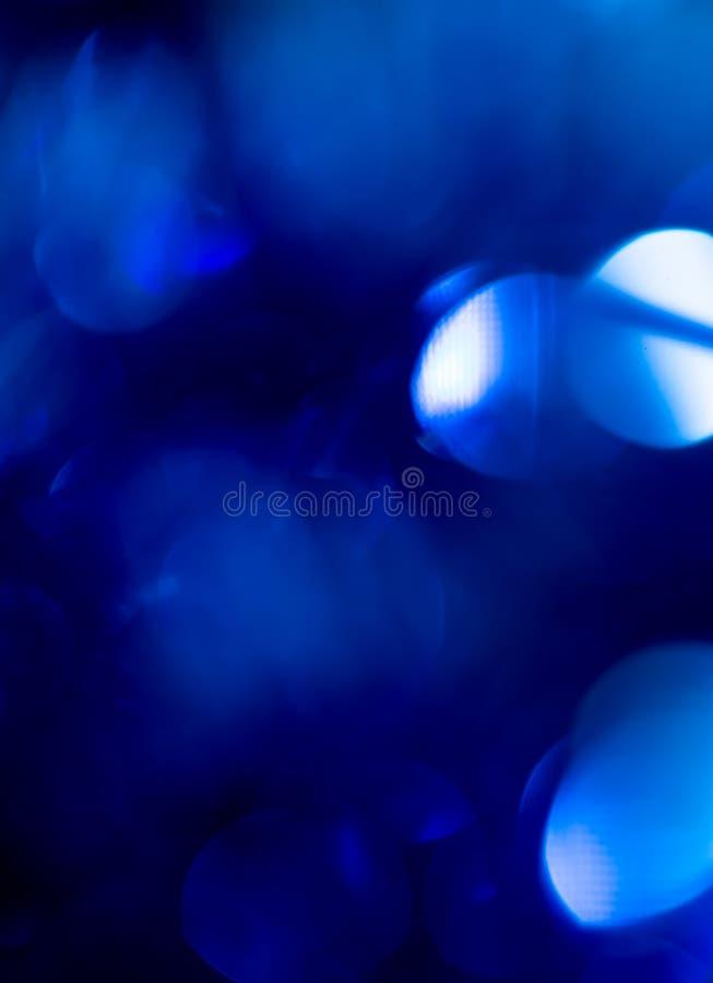 Bokeh azul bonito do Natal Fundo fotos de stock