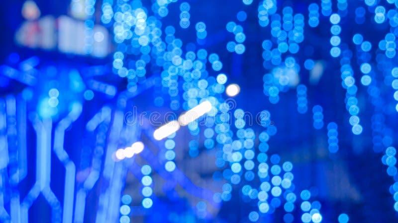 Bokeh azul defocused abstrato da ilumina??o fotografia de stock royalty free