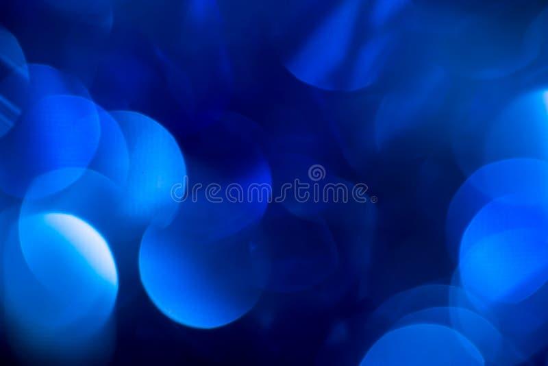 Bokeh azul hermoso de la Navidad Fondo imagen de archivo libre de regalías