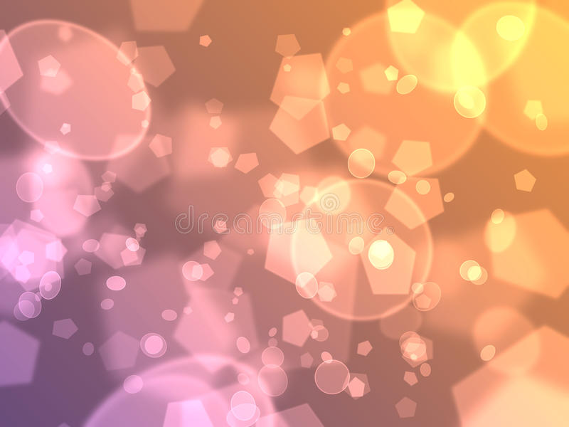 Bokeh Background. Abstract glowing circles bokeh background royalty free illustration
