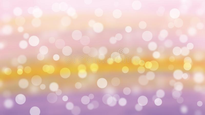 Bokeh background with Christmas lights royalty free illustration